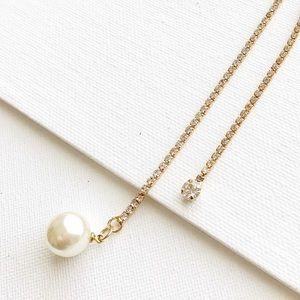 Diamanté diamonds dual lariat necklace